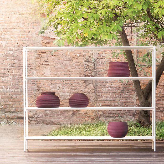 Modernes Regal Lackierter Stahl Beton Für Den Garten Plano