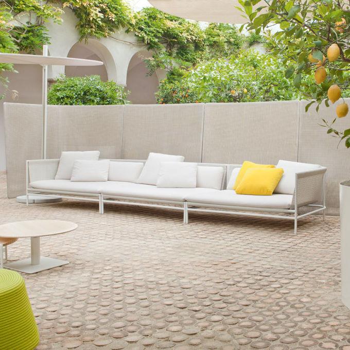 Modulsofa / modern / Garten / aus Edelstahl - CANVAS by Francesco ...