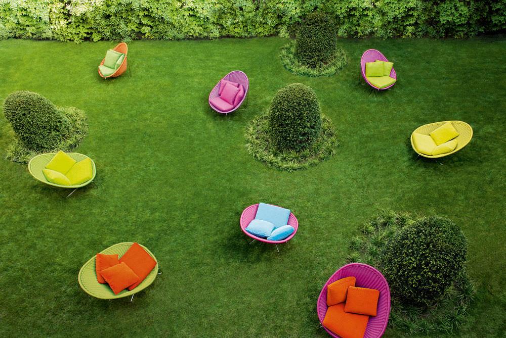 Moderner Sessel / aus Edelstahl / Garten / von Eliana Gerotto ...
