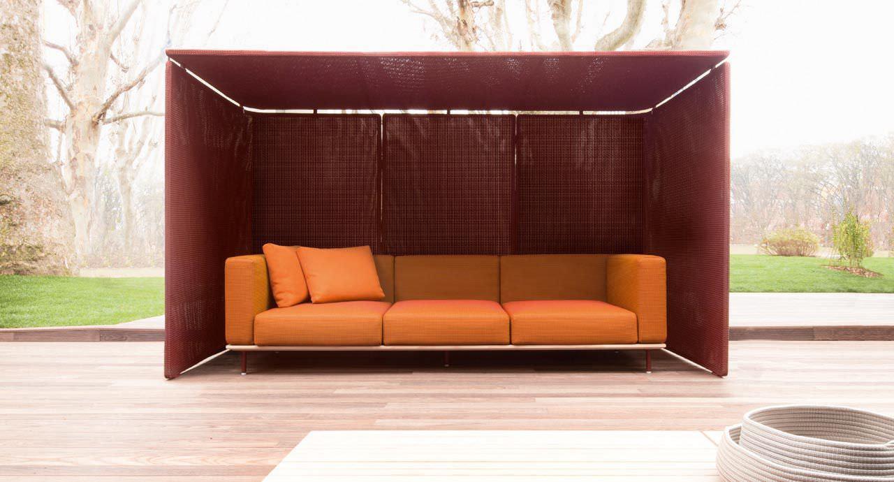 Modernes Sofa / Garten / Holz / Aus Edelstahl - Bench By Bestetti ... Cabanne Gartenpavillon Paola Lenti Bestetti Associati