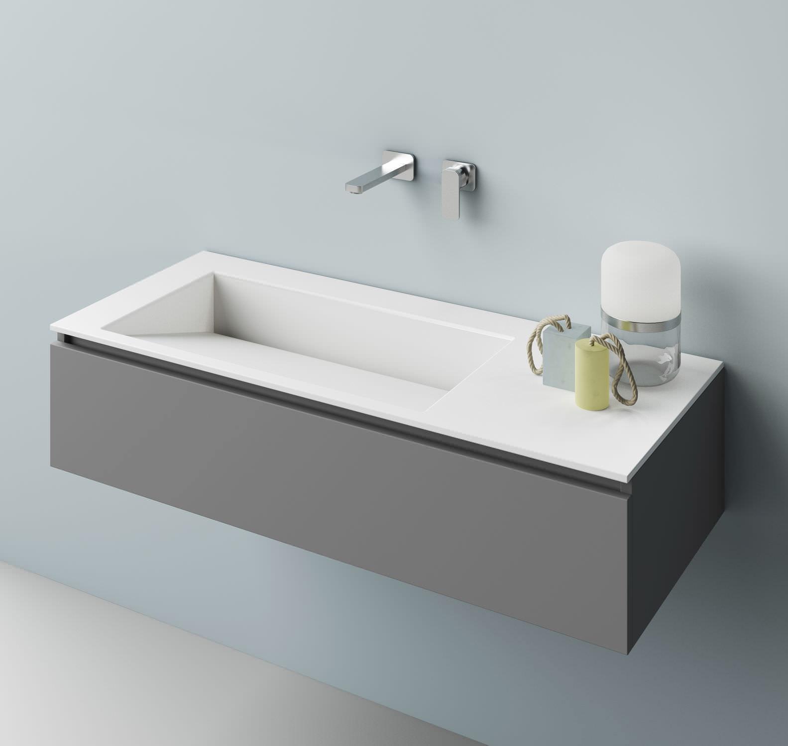 Aufsatzwaschbecken / rechteckig / aus Corian® / modern - FAUST ... | {Waschbecken rechteckig 6}