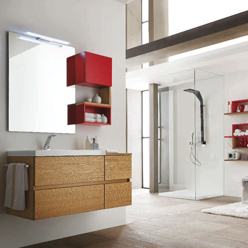 Modernes Badezimmer / Holz / Laminat   PROGRAMMA CORONA
