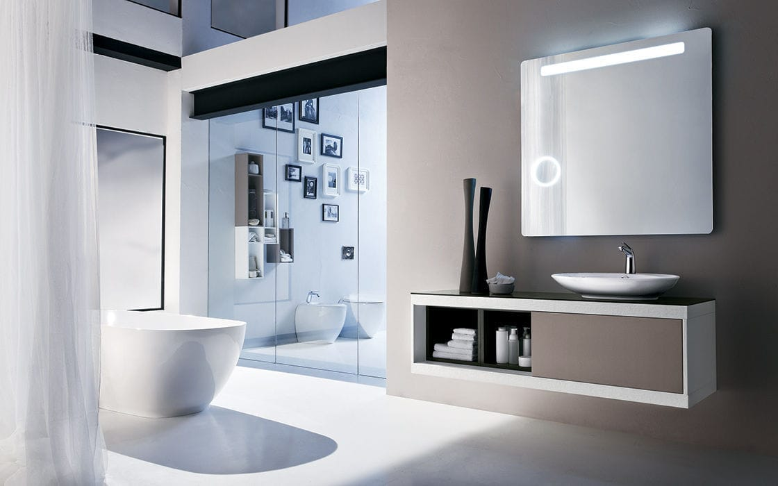 Modernes Badezimmer / Holz / Laminat - PROGRAMMA CORONA - RAB ...