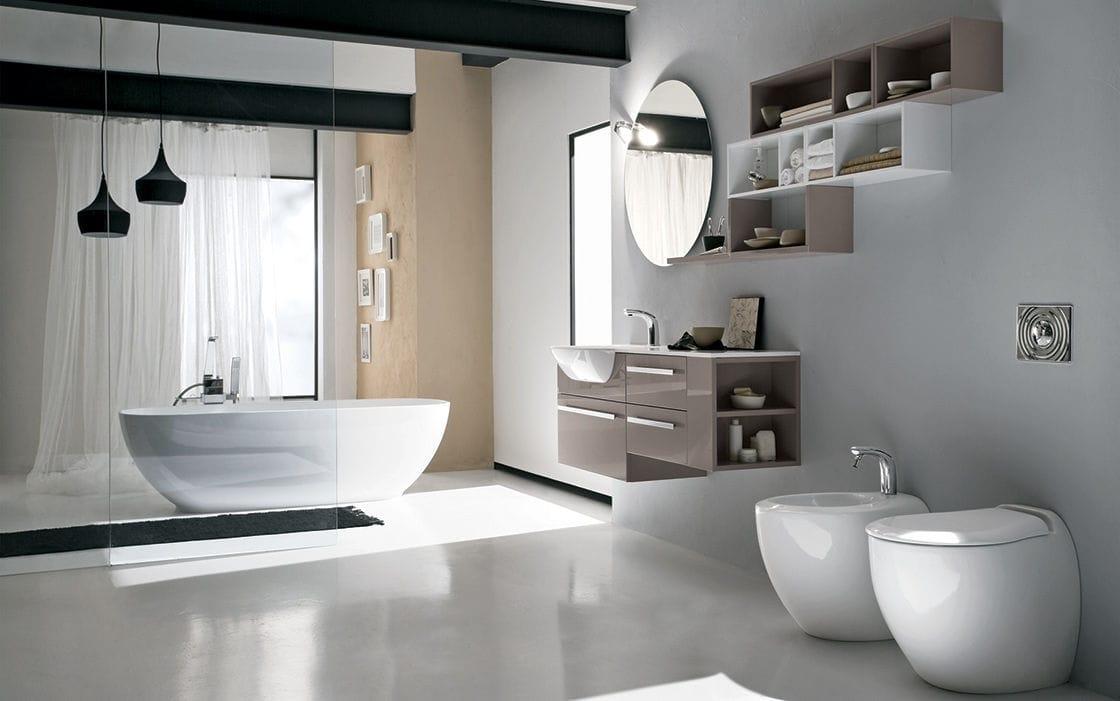 modernes badezimmer / holz / laminat - programma corona - rab