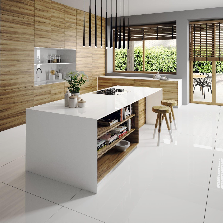 Silestone®-Arbeitsplatte / Küchen / weiß - ICONIC - Cosentino