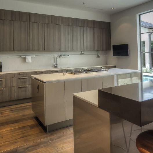 Silestone® Arbeitsplatte / Küchen / Weiß   LAGOON