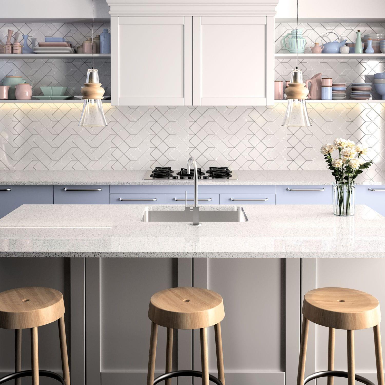 Silestone® Arbeitsplatte / Küchen / Weiß   BLANCO STELLAR