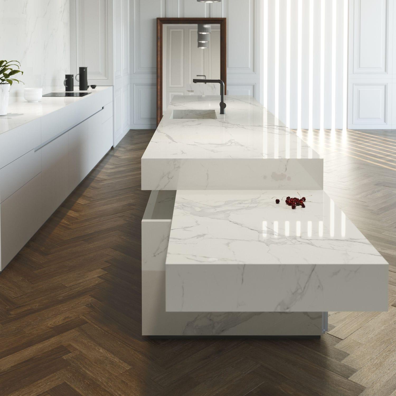 Marmor Arbeitsplatte / Küchen / Weiß   NATURA