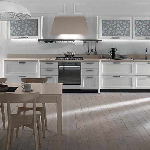 Moderne Küche / Holz / lackiert / mit Griffen - FLY - NEW ...