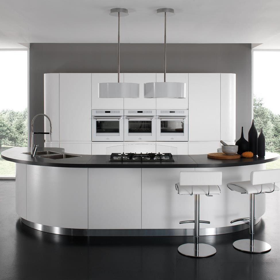 Moderne Küche / Laminat / rund / lackiert - SEVEN - Torchetti Cucine
