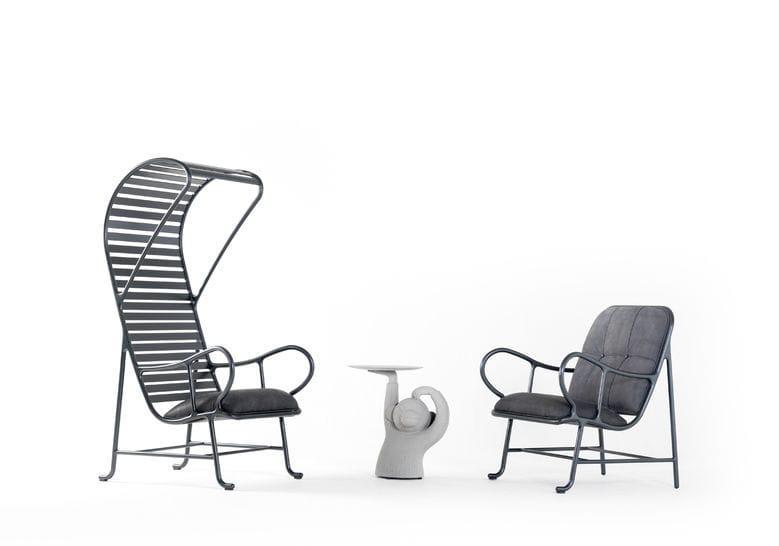 ... Moderner Sessel / Aus Aluminiumguss / Hochlehner / Von Jaime Hayon  GARDENIAS INDOOR BD Barcelona Design ...