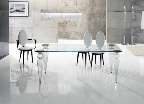 Tavolo da pranzo in vetro tavolo in cristallo - Epierre