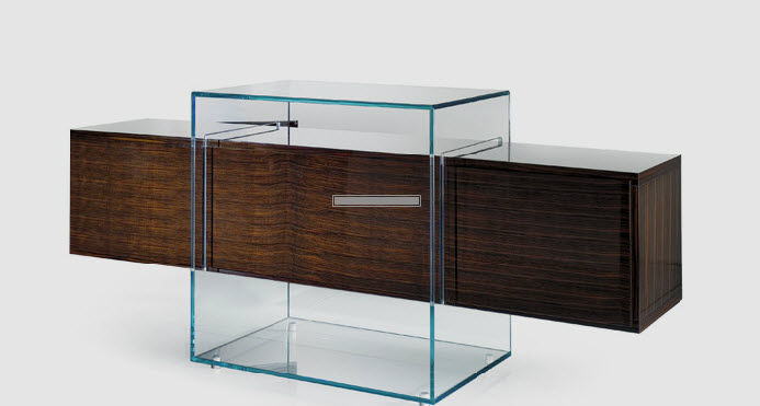 Sideboard holz glas  Modernes Sideboard / Holz / Glas - KUBO by Riccardo Lucatello ...