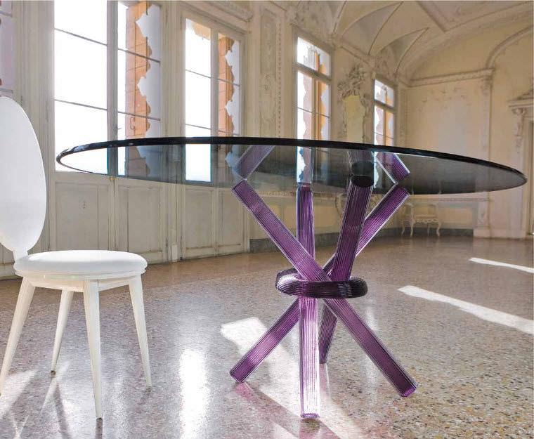 moderne esstisch / glas / für innenbereich - arlequin 72 - reflex, Esstisch ideennn