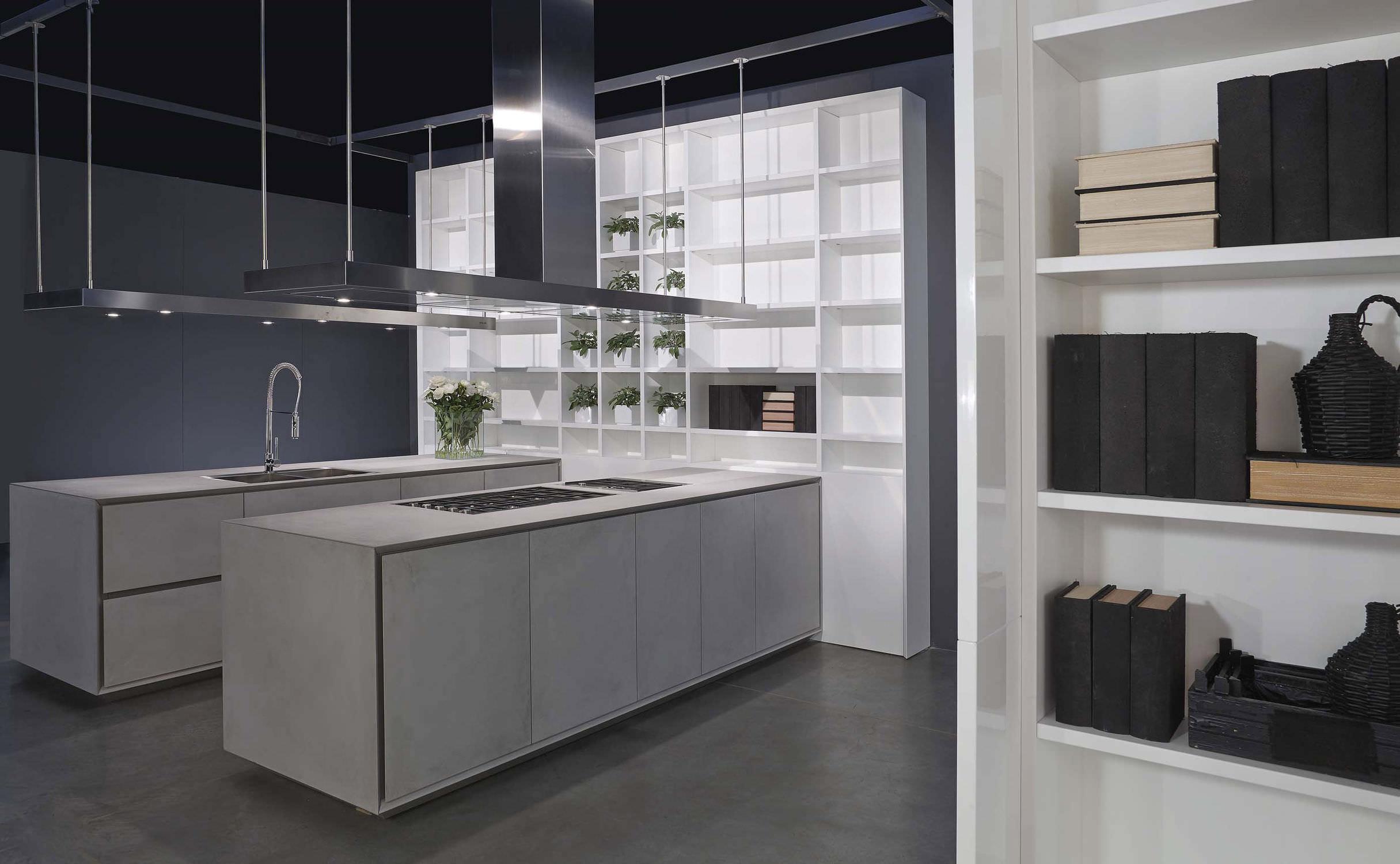 ... Moderne Küche / Beton / Kochinsel / Lackiert ...
