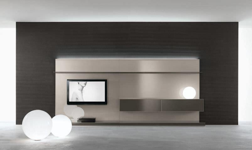 Moderne Wohnwand / Glas - ABACUS by Giuseppe Bavuso - RIMADESIO