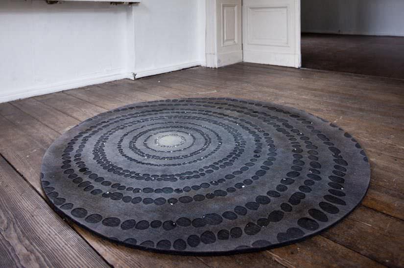 Moderner Teppich Motiv Wolle Rund Night Sky By Deborah Moss