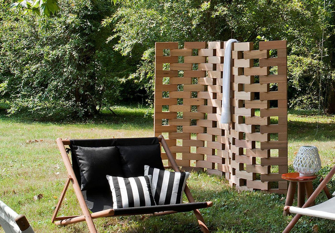 Moderner Paravent Holz Fur Den Garten Zen By Ludovica