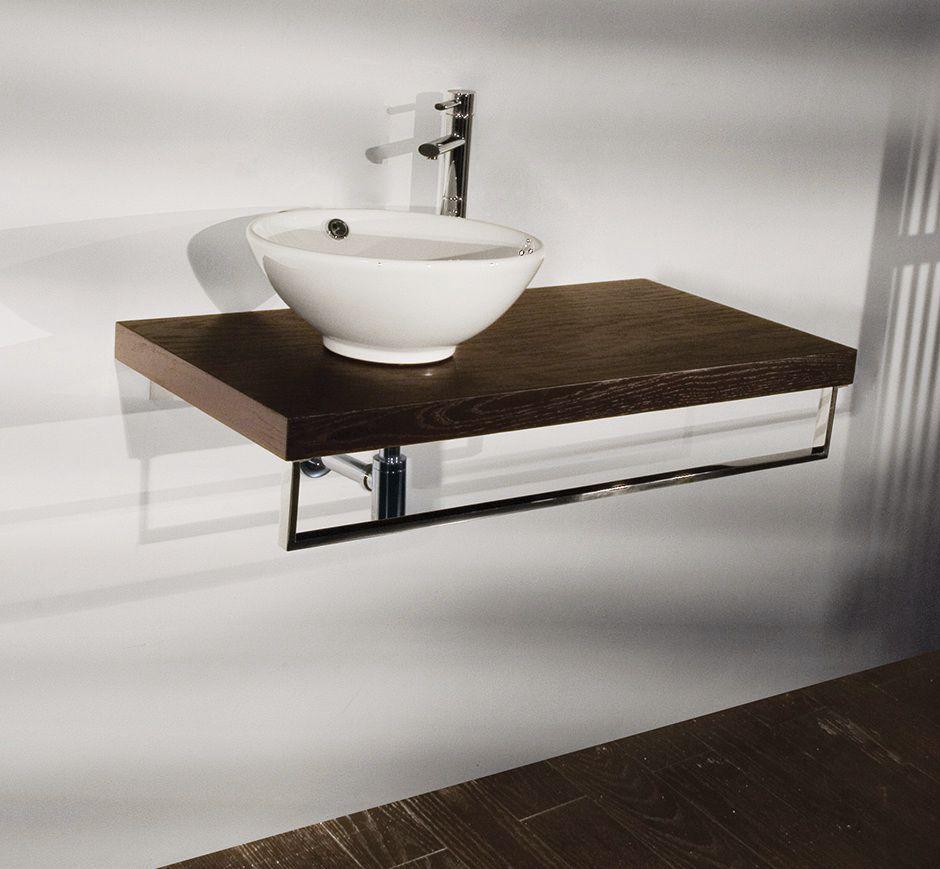 Holz-Waschtischplatte / kundenspezifisch - PLAZA: 8443 - Lacava | {Waschtischplatte mit schublade 17}
