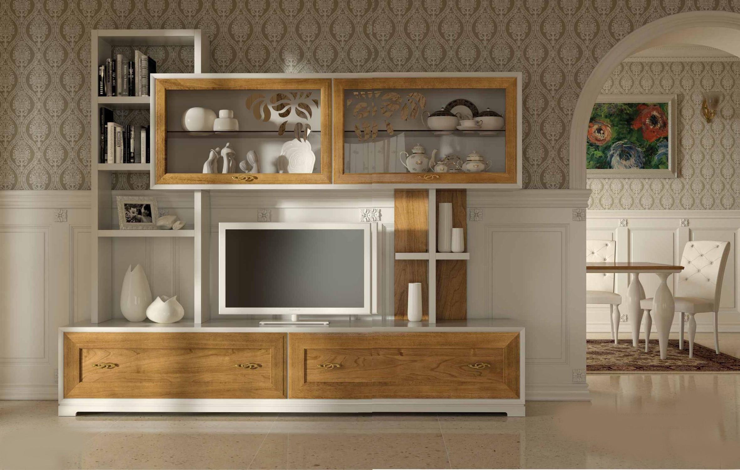 Moderner wohnzimmer wohnwand / holz   la dolce vita   stilema