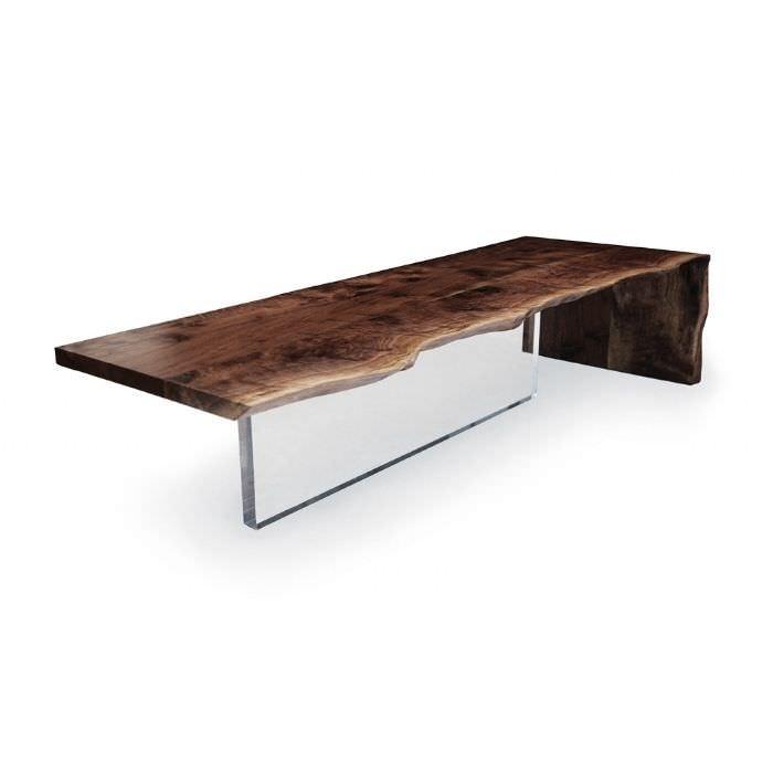 Moderner Couchtisch PlexiglasR Nussbaum Rechteckig PLEXI Hudson Furniture