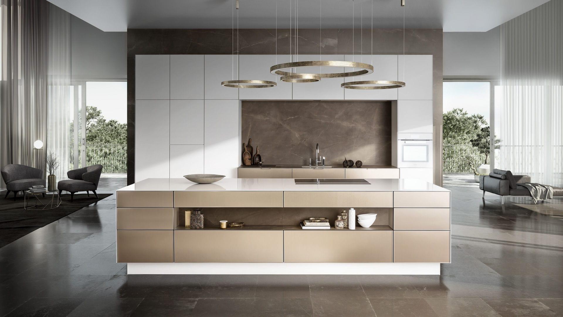 Moderne Küche / Holz / Kochinsel / lackiert - PURE : SE 3003 R ...
