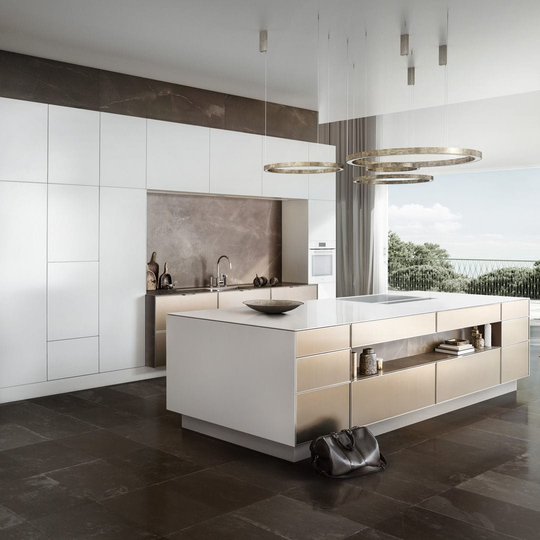 Moderne Küche Holz Kochinsel Lackiert Pure Se 3003 R