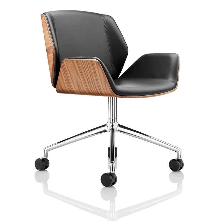 Bürostuhl design rollen  Moderner Bürostuhl / mit Rollen / mit Armlehnen / sternförmiger ...