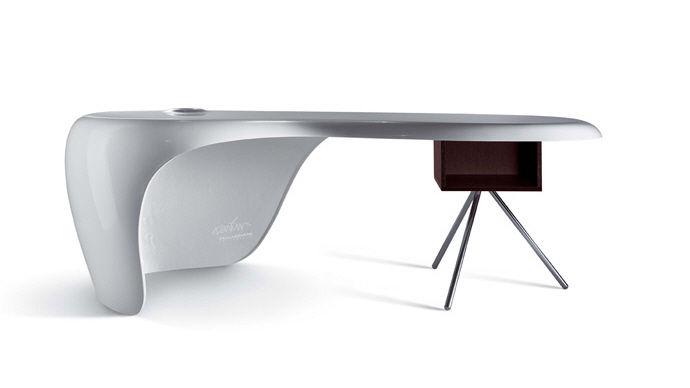 Schreibtisch weiß modern  Chefschreibtisch / Holz / Melamin / modern - UNO - Della Rovere ...