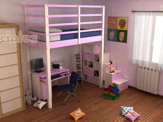 Etagenbett Doppelt : Hochbett doppelt modern für kinder letto a soppalco nido