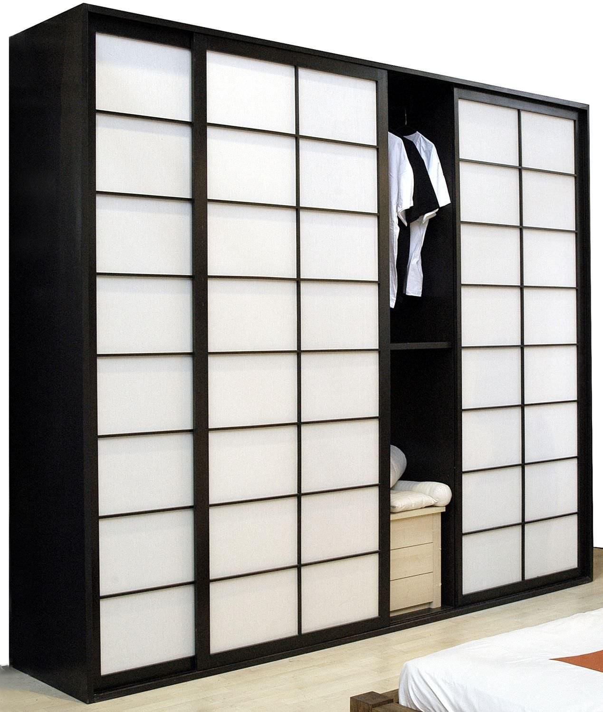 Moderner Kleiderschrank / Holz / Schiebetüren - - Cinius