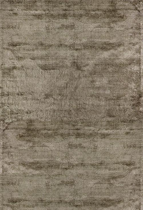 Moderner Teppich Uni Baumwolle Viskose Aura Taupe 300