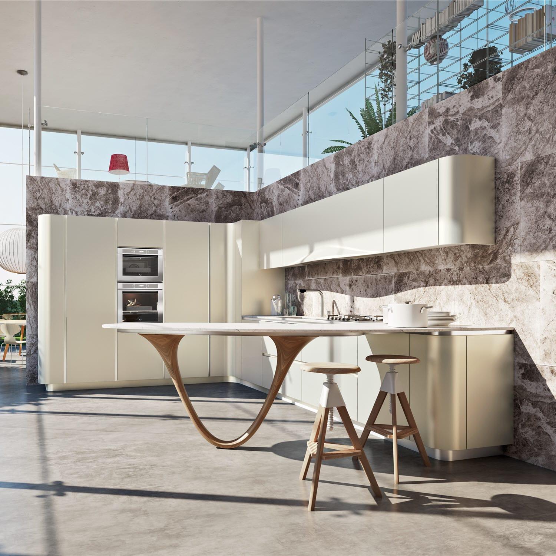 Designer küchen mit kochinsel holz  Moderne Küche / Holz / Kochinsel / lackiert - OLA 20 by ...