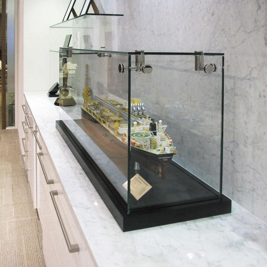 Moderne Vitrine / für Theken / Holz / Glas - CTG001 - Shopkit