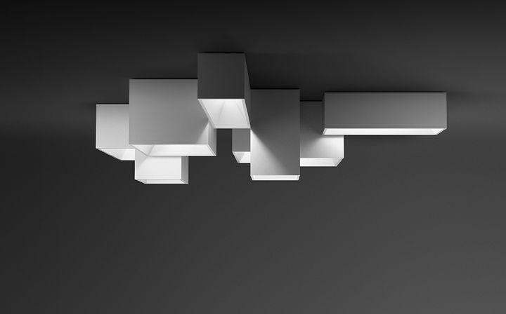 Moderne deckenleuchte rechteckig aus methacrylat led link