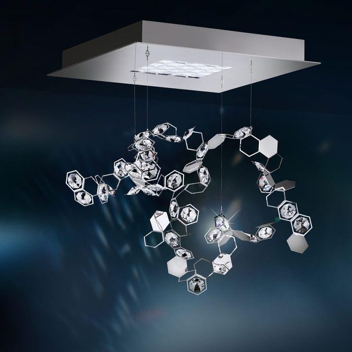 Hängelampe / originelles Design / aus Kristall / LED - CRYSTALON ...