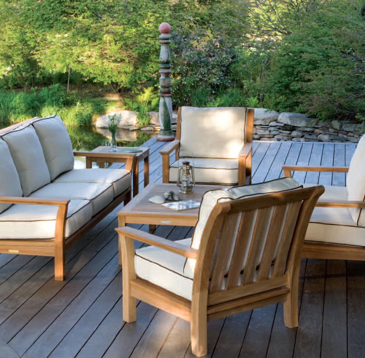Lounge sofa garten holz  Modernes Sofa / für den Garten / Holz / 3 Plätze - CHELSEA ...