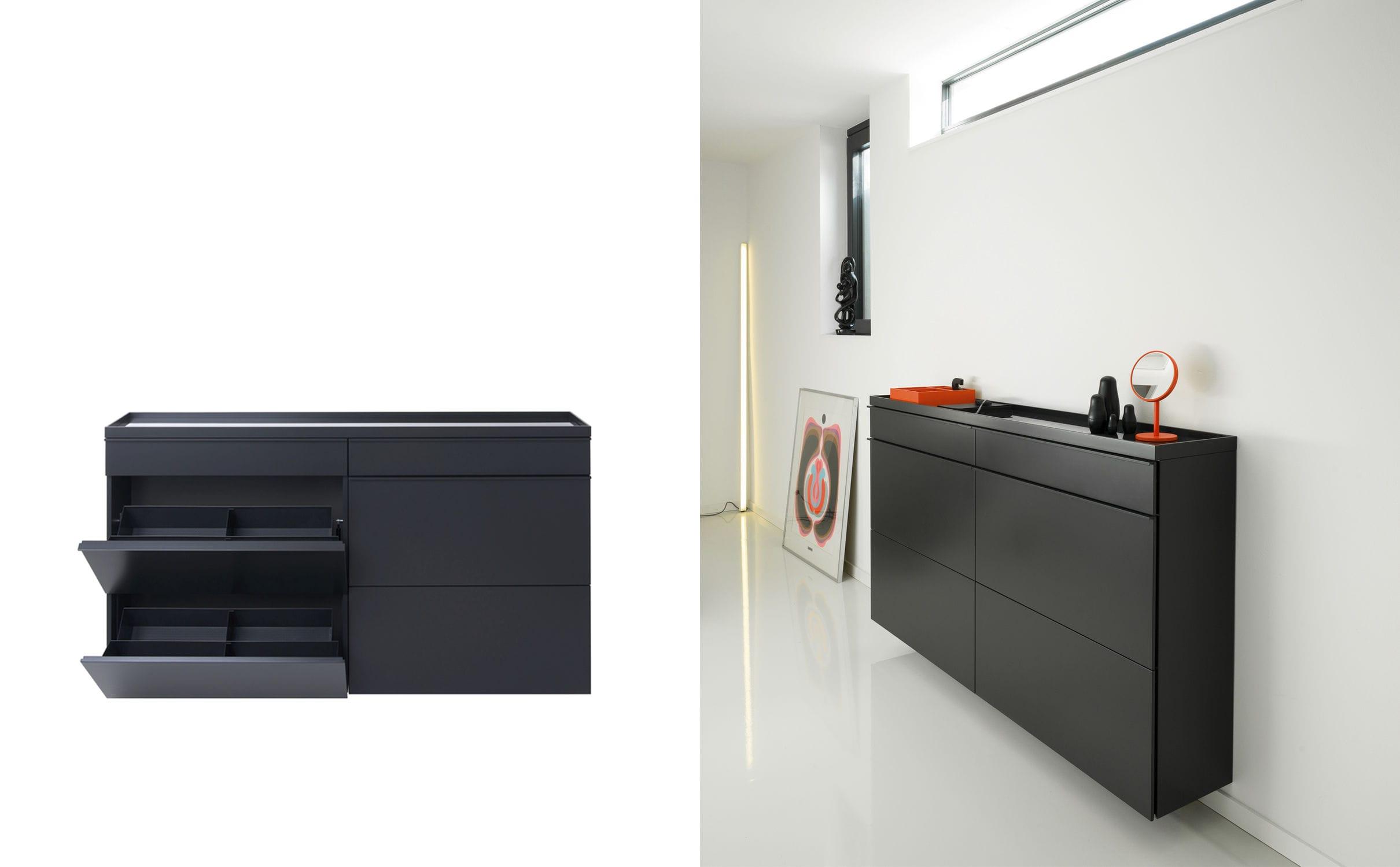 Moderner Schuhschrank / gestrichenes Metall - BASIC - Schönbuch