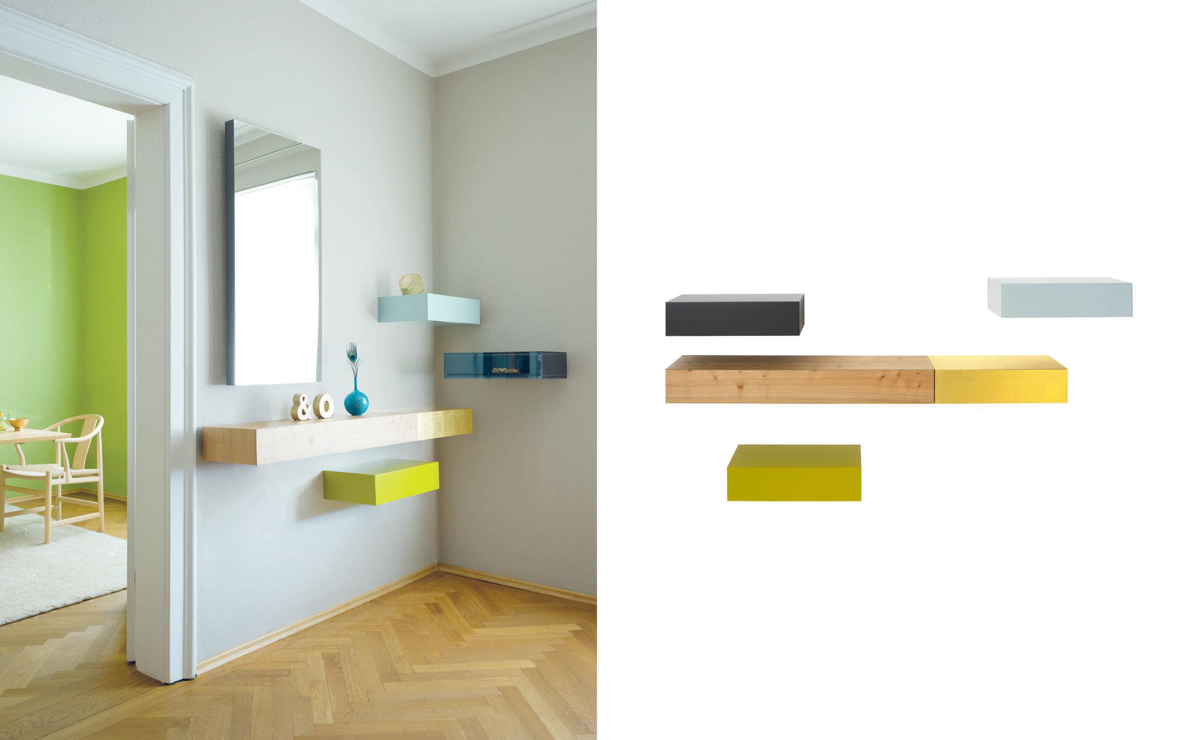 ... Moderner Konsolentisch / Holz / Rechteckig / Wandmontiert EPOCA By Ulf  Moritz Schönbuch ...