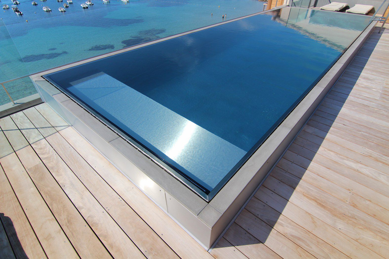 High Quality ... Teileingebautes Schwimmbecken / Edelstahl / Selbsttragend /  Schwimmteich Überlauf