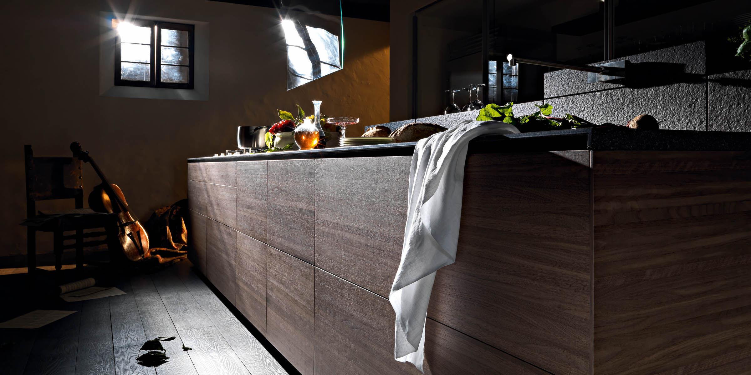 Moderne Küche / Stein / Holz / Kochinsel - ARTEMATICA NOCE TATTILE ... | {Designer küchen mit kochinsel holz 24}