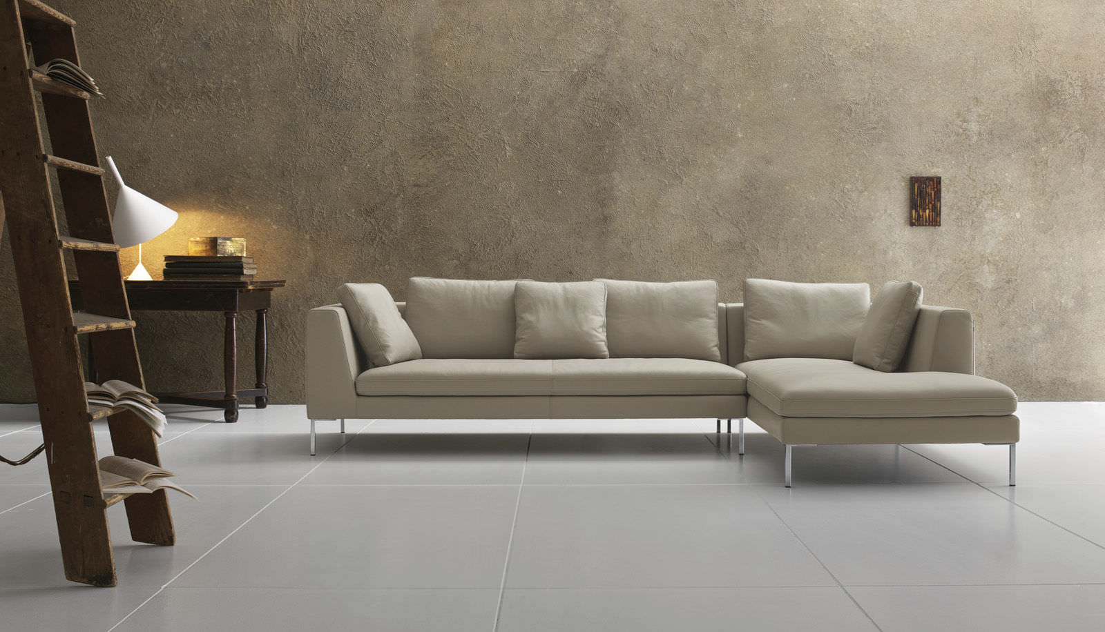 Sofa modern leder  Modulierbares Sofa / modern / Leder / Stoff - LUNA - Alberta