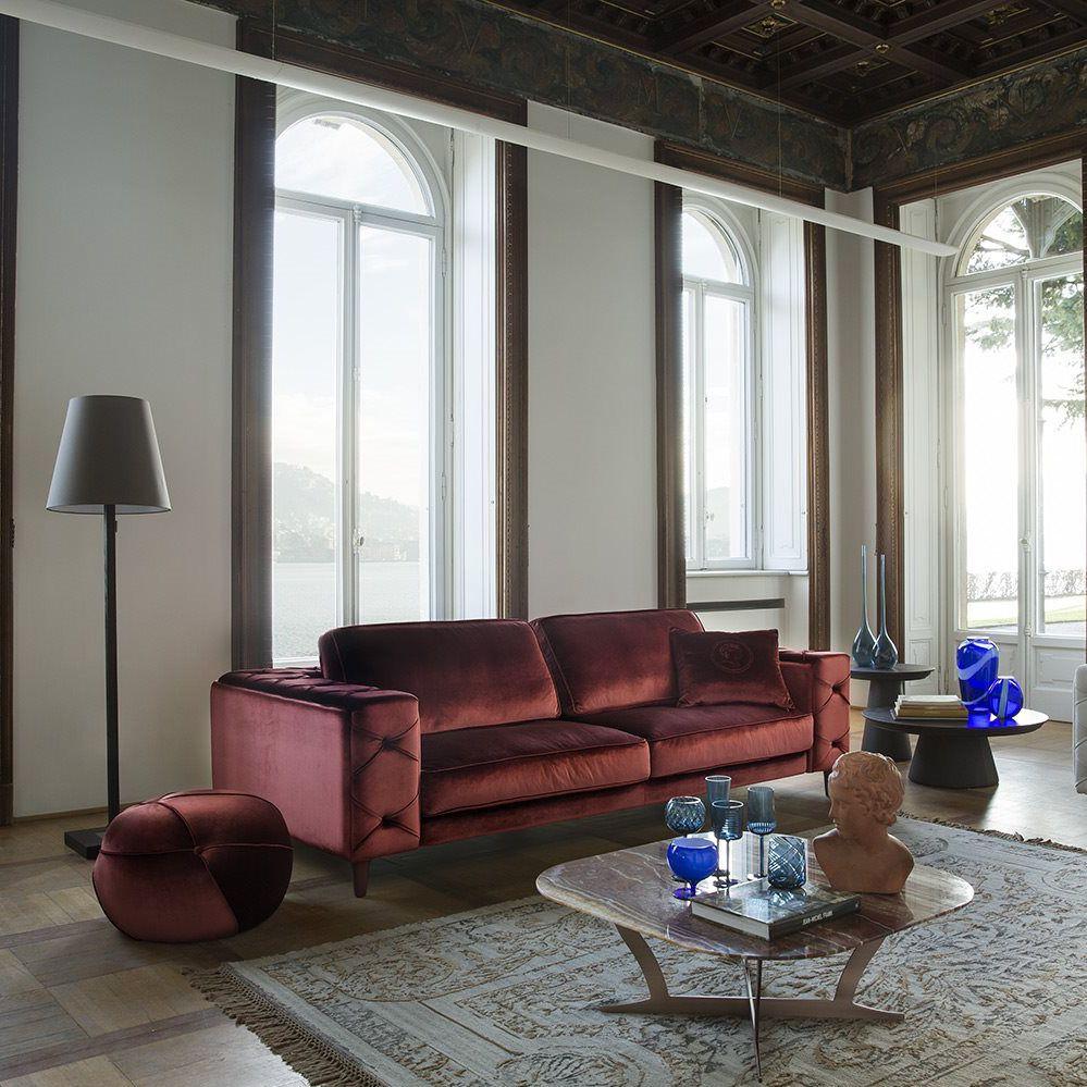 Modernes Sofa Leder Stoff 4 Plätze Belmondo By Castello