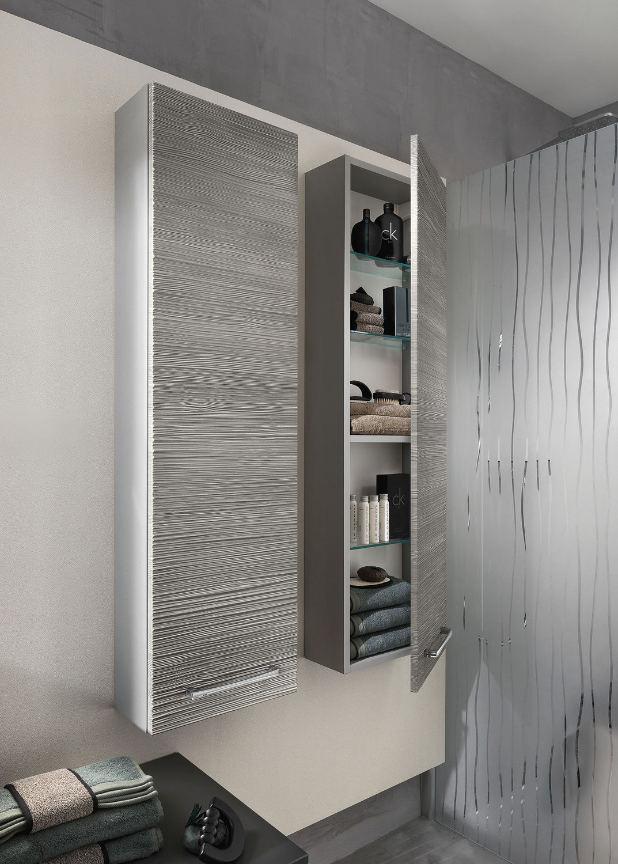 Modernes Badezimmer / aus Eiche / Glas - UNIQUE Onde chêne gris - Delpha