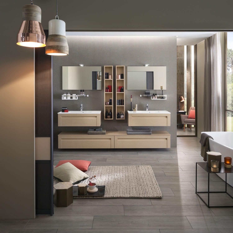 Modernes Badezimmer / aus gebleichter Eiche - UNIQUE Wood ...