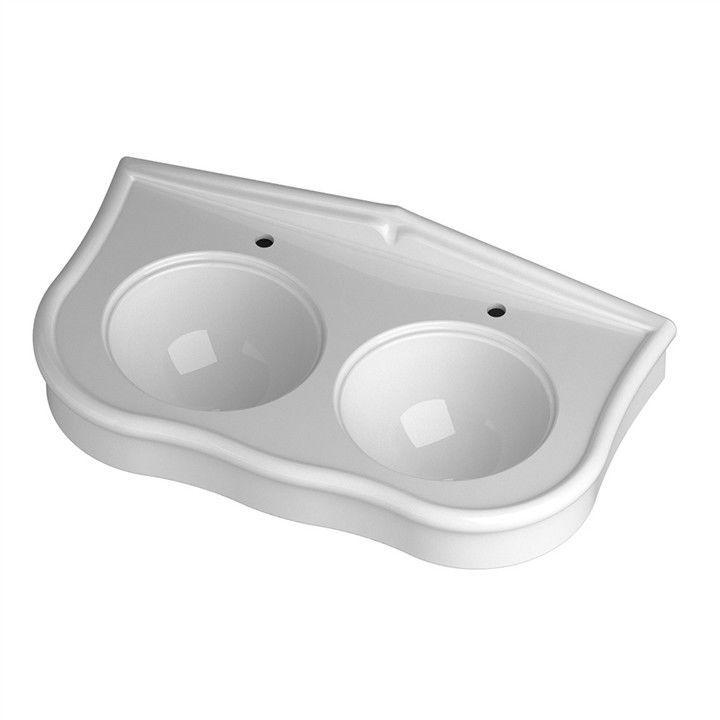 Doppelwaschbecken rund  Doppeltes Waschbecken / Wand / rund / Keramik - PA11D61101 ...
