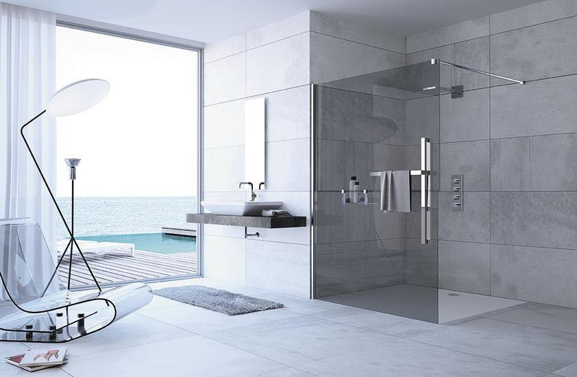 Begehbare Dusche begehbare dusche glas rechteckig duplo hüppe