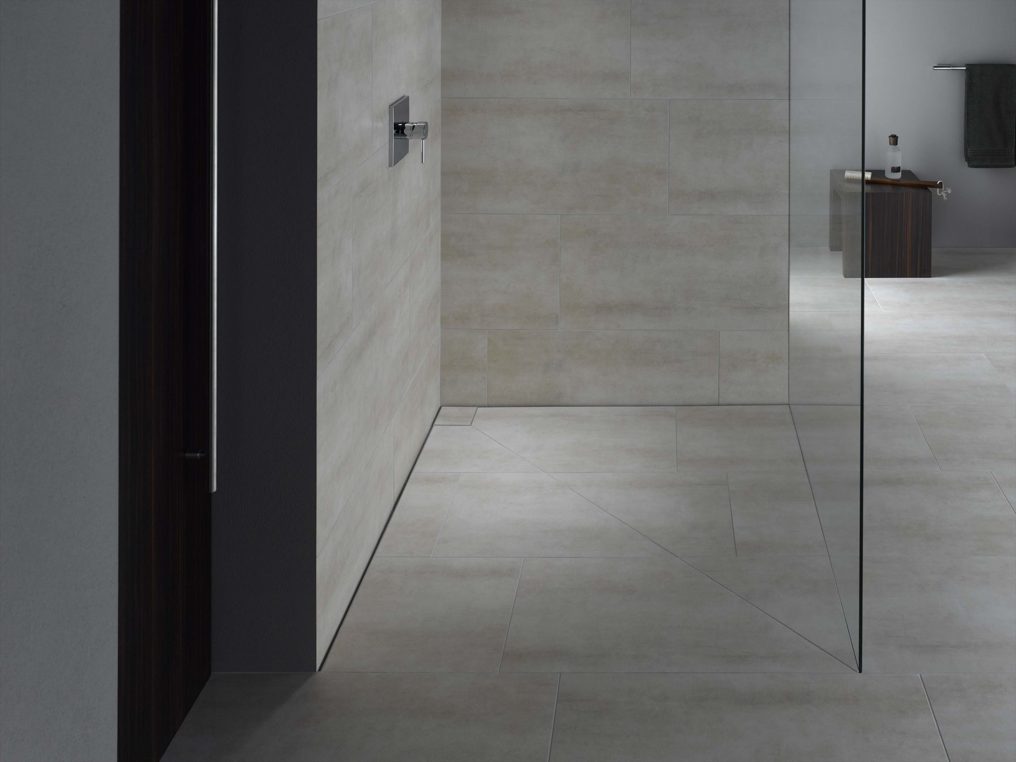 Rechteckige Duschwanne / Keramik / extraflach / bodengleich ... | {Bodengleiche duschwanne mit extra flachem ablaufsystem 94}