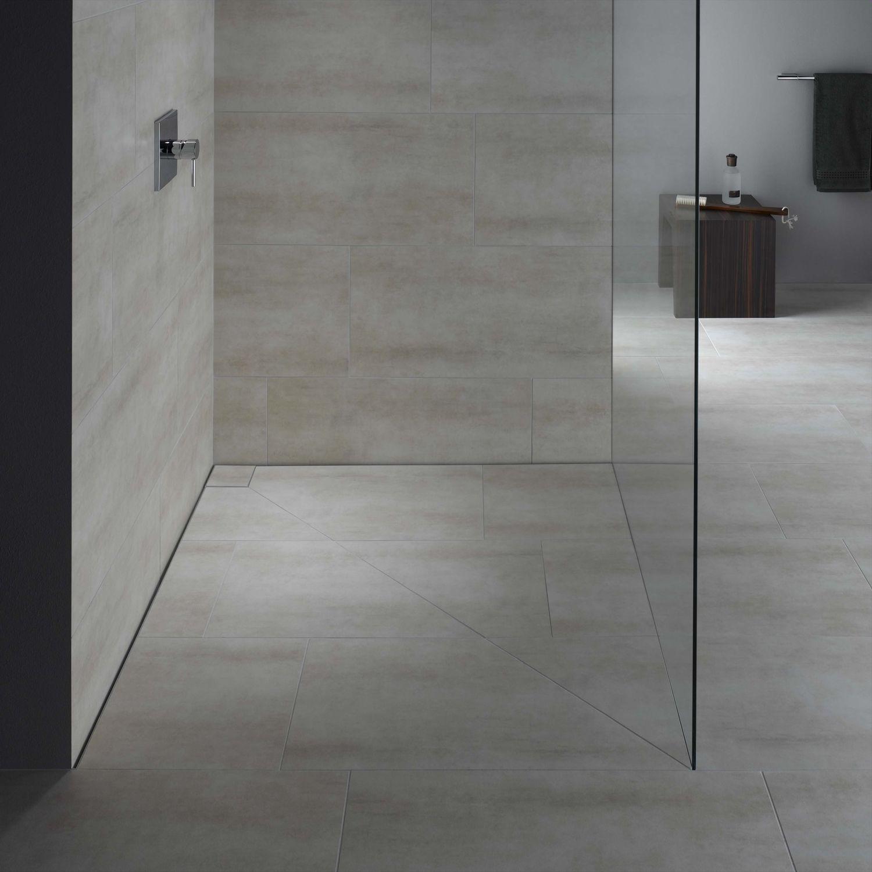 rechteckige duschwanne / keramik / extraflach / bodengleich