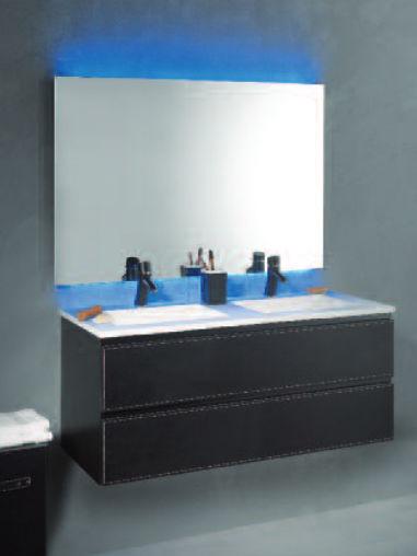 Doppelter Waschtischunterschrank / hängend / Holz / modern - LOFT ... | {Waschtischunterschrank holz hängend 120 17}